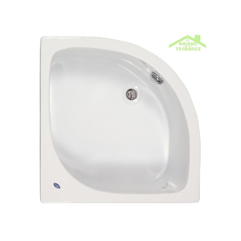 Baignoire d angle acrylique mykonos 90x90 cm for Peinturer un bain en acrylique