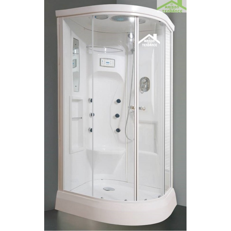 cabine de douche hydromassante compl te new perseo 90x90 cm x 210 cm. Black Bedroom Furniture Sets. Home Design Ideas