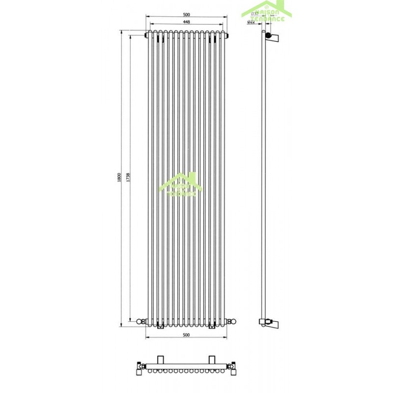 radiateur acier vertical amazing radiateur en acier with radiateur acier vertical cool. Black Bedroom Furniture Sets. Home Design Ideas