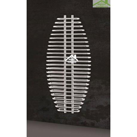 radiateur s che serviette design vertical aria 60x130 cm en chrome. Black Bedroom Furniture Sets. Home Design Ideas