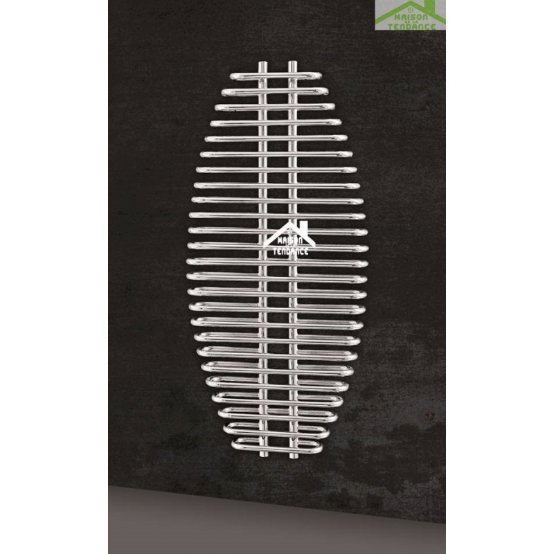 radiateur s che serviette design vertical aria 60x130 cm en chrome. Black Bedroom Furniture Sets. Home Design Ideas