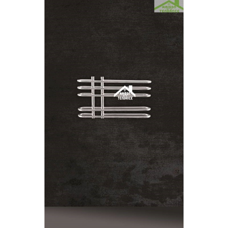 Radiateur s che serviette design vertical dora 70x40 cm en for Radiateur seche serviette design