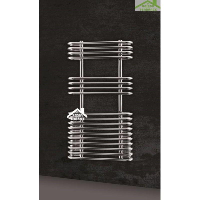 Radiateur s che serviette design vertical vivien 50x90 cm en chrome - Seche serviette 50 cm ...