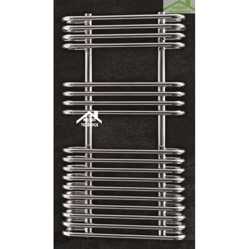 Radiateur s che serviette design vertical vivien 50x90 cm for Radiateur seche serviette design