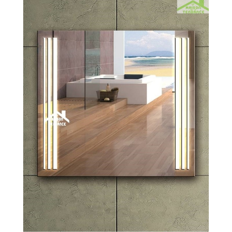miroir de bain avec lumi re led 70x60 cm. Black Bedroom Furniture Sets. Home Design Ideas