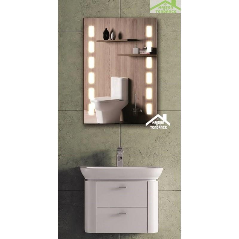Miroir de bain avec lumi re led 70x50 cm for Miroir elliptique