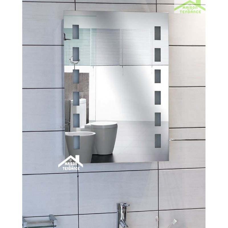 Miroir de bain avec lumi re led 70x50 cm for Miroir 70x50