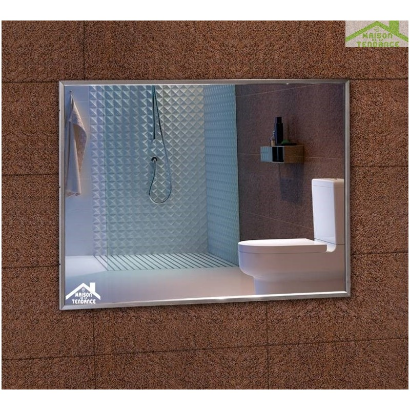 Miroir rectangulaire de bain 80x60 cm for Miroir 80x60