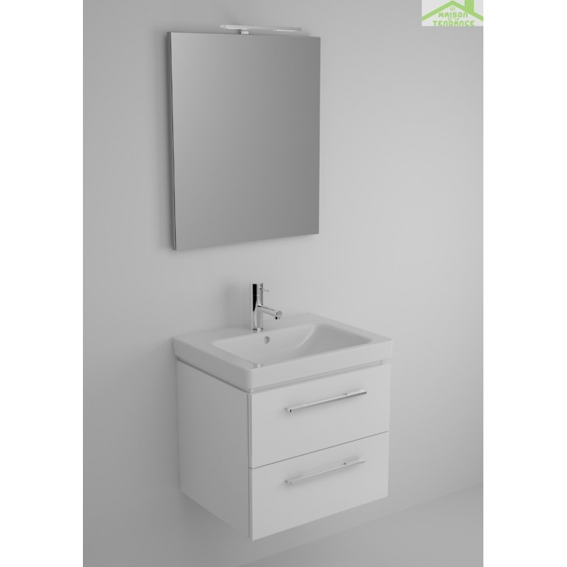 Ensemble meuble lavabo riho altare set 30 60x47 x h56 5 for Ensemble meuble lavabo