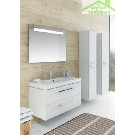Ensemble meuble lavabo riho altare set 33 130x47 x h56 5 for Ensemble meuble lavabo