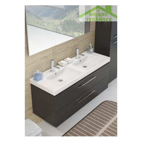 Ensemble meuble lavabo riho altare set 35 130x47 x h56 5 for Ensemble meuble lavabo
