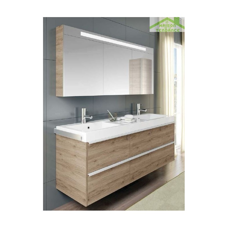 Ensemble meuble lavabo riho andora set 30 en bois for Meuble lavabo