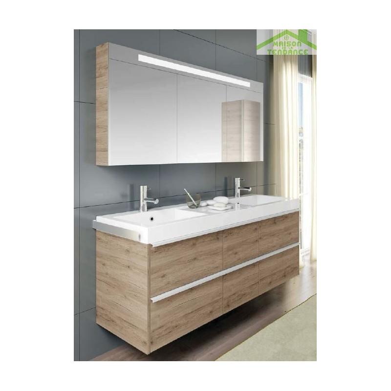 Grand lavabo blanc en c ramique riho andora 160x48 cm pour 2 mitigeurs - Lavabo ceramique blanc ...