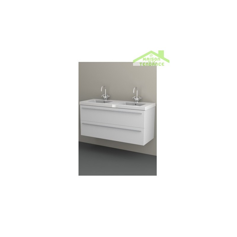 Ensemble meuble lavabo riho bellizzi set 26 120x45x h 60 cm for Ensemble meuble lavabo