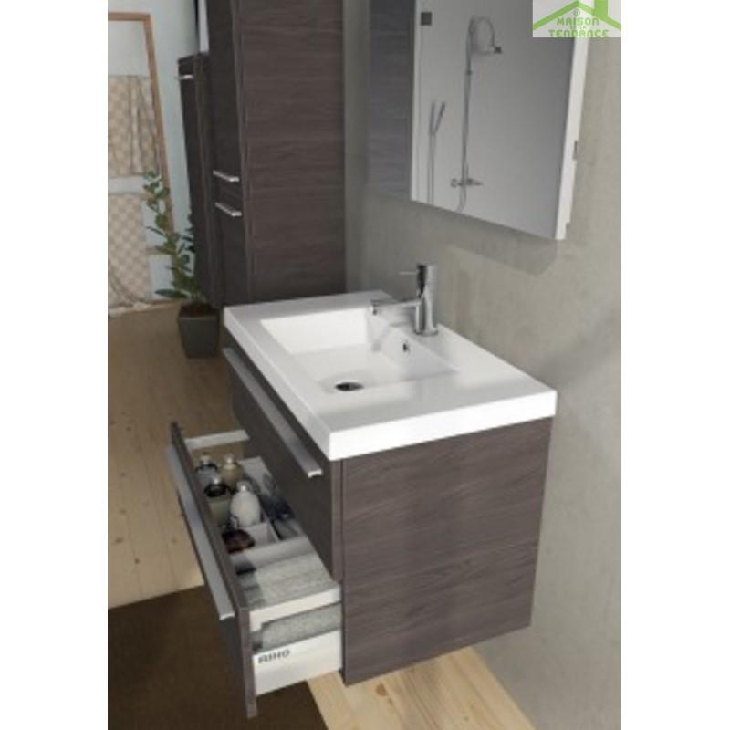 Lavabo blanc rectangulaire en c ramique riho 61x45 cm - Lavabo ceramique blanc ...