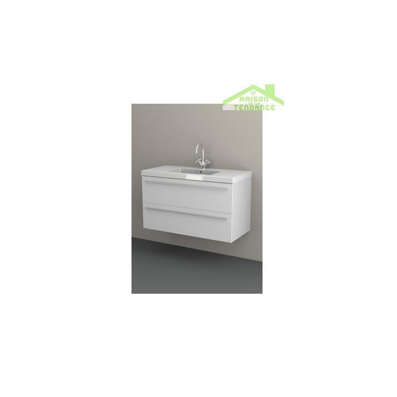 Sous meuble de lavabo 2 portes riho bellizzi 100x55x45 - Meuble sous lavabo 45 cm ...