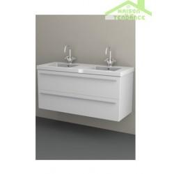 Sous meuble de lavabo en bois stratifié à 2 portes RIHO BELLIZZI   120x55x45 cm