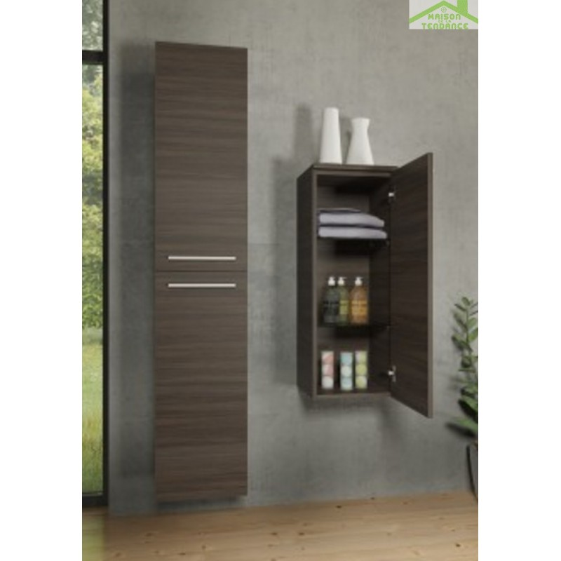 armoire de douche 2 portes gauche riho bellizzi 35x32x171 5 cm maison de la tendance. Black Bedroom Furniture Sets. Home Design Ideas