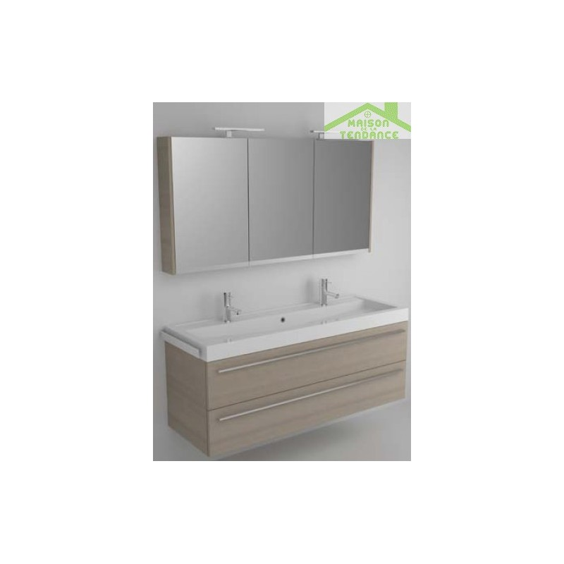 Ensemble meuble lavabo riho bologna set 55 120x48x h 58 for Ensemble meuble lavabo