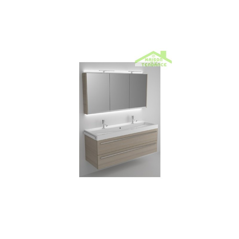 Ensemble meuble lavabo riho bologna set 64 140x48x h 58 for Ensemble meuble lavabo