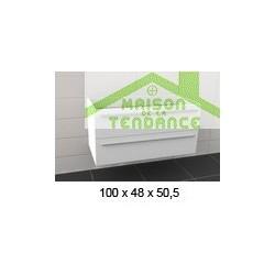 Sous meuble de lavabo RIHO BOLOGNA en bois stratifié 100x48x H 50,5 cm
