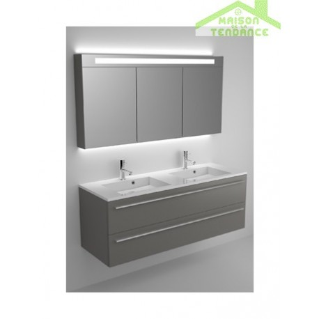 Ensemble grand meuble lavabo riho broni set 20 140x48x h - Meuble 20 cm de large ...