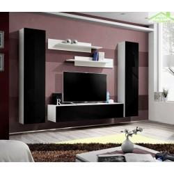 Ensemble meuble TV mural FLY-A de haute brillance