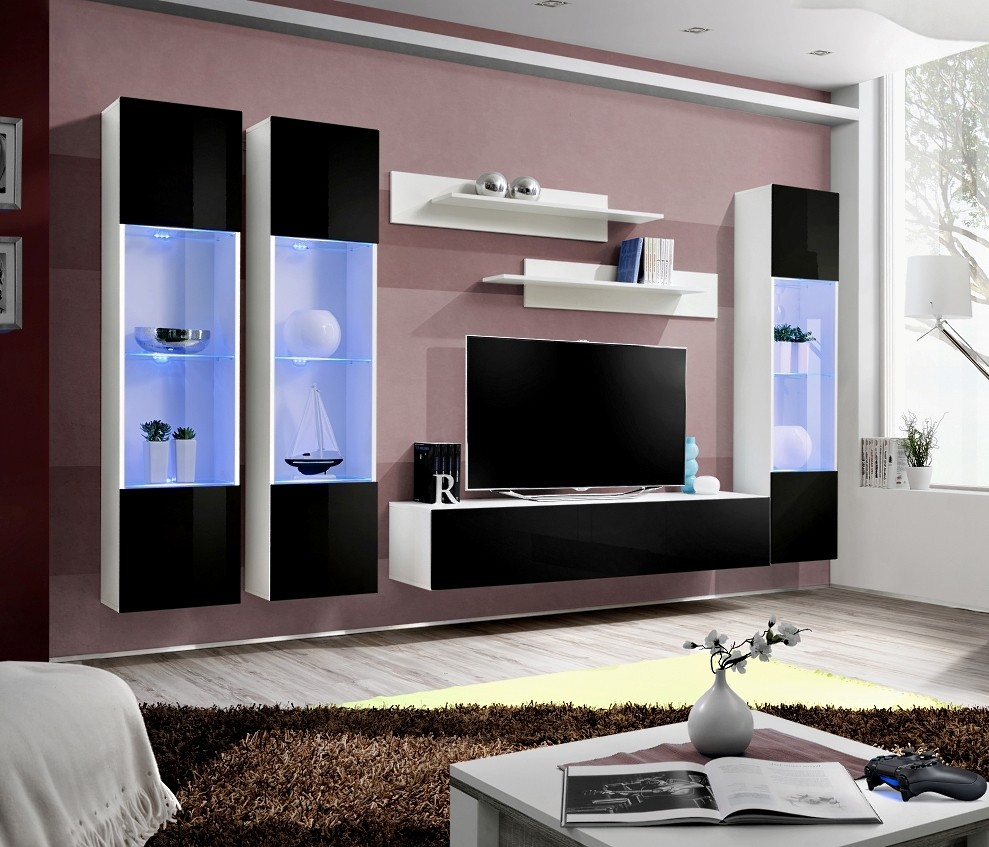 Meuble Tv Fly Serie Gallery Of Meuble Tv Absoluto Tiroirs Et  # Meuble Tele Fly Beton Cire