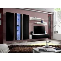 Ensemble meuble TV mural FLY-C avec LED