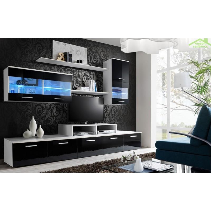 Ensemble meuble tv loga avec led for Ensemble meuble tv