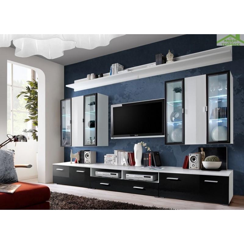 Ensemble meuble tv mural iceland avec led - Meuble tv mural led ...