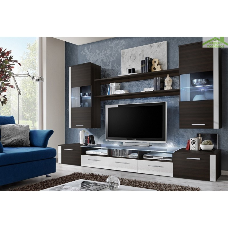 ensemble tv mural design maison design. Black Bedroom Furniture Sets. Home Design Ideas
