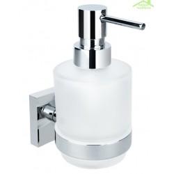 Distributeur de savon liquide BETA en petit verre 7cm x 14,5cm x 10cm / 250ml