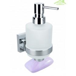 Distributeur de savon liquide & porte-savon magnétique BETA 7,5x16x10cm /200ml