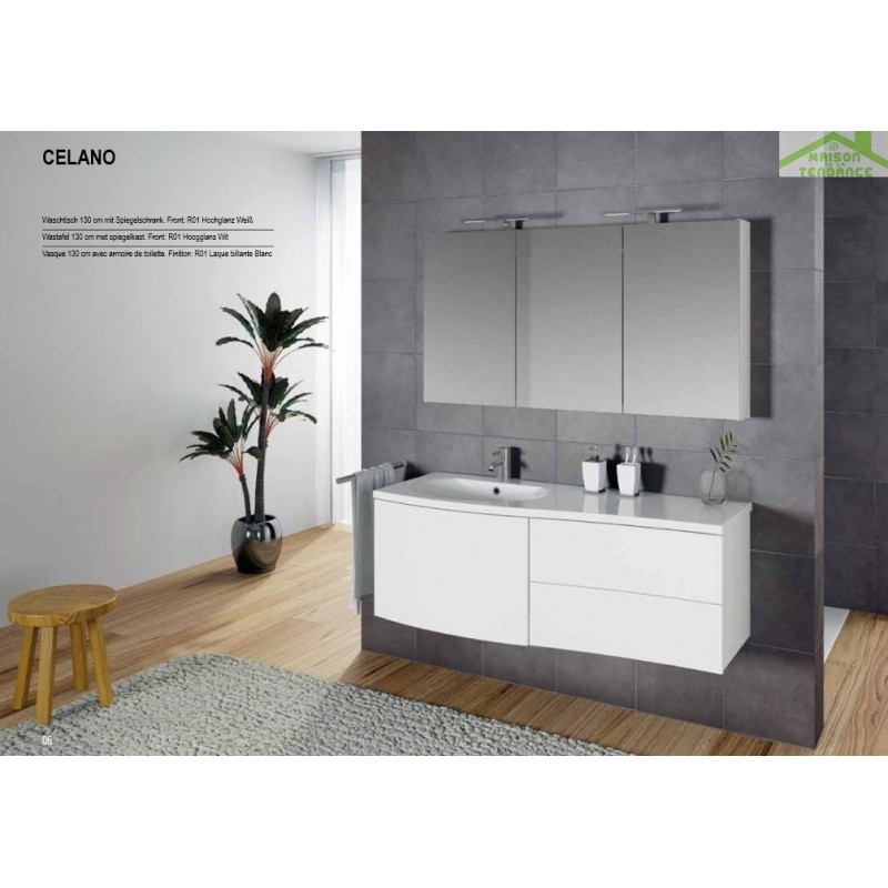 Ensemble meuble lavabo riho celano set 01 130x48 h 48 cm - Ensemble lavabo meuble ...