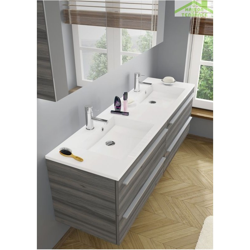 Ensemble meuble lavabo riho broni set 20 140x48x h 52 5 cm - Ensemble lavabo meuble ...