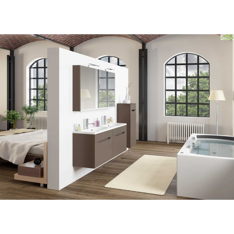 Ensemble meuble lavabo riho enna set 45 120x38 h 53 5 cm for Ensemble meuble lavabo