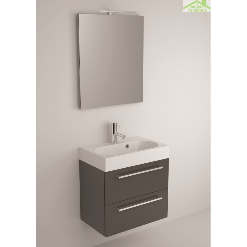 Ensemble meuble lavabo riho slimline set 60 60x38 h 60 5 cm - Ensemble lavabo meuble ...