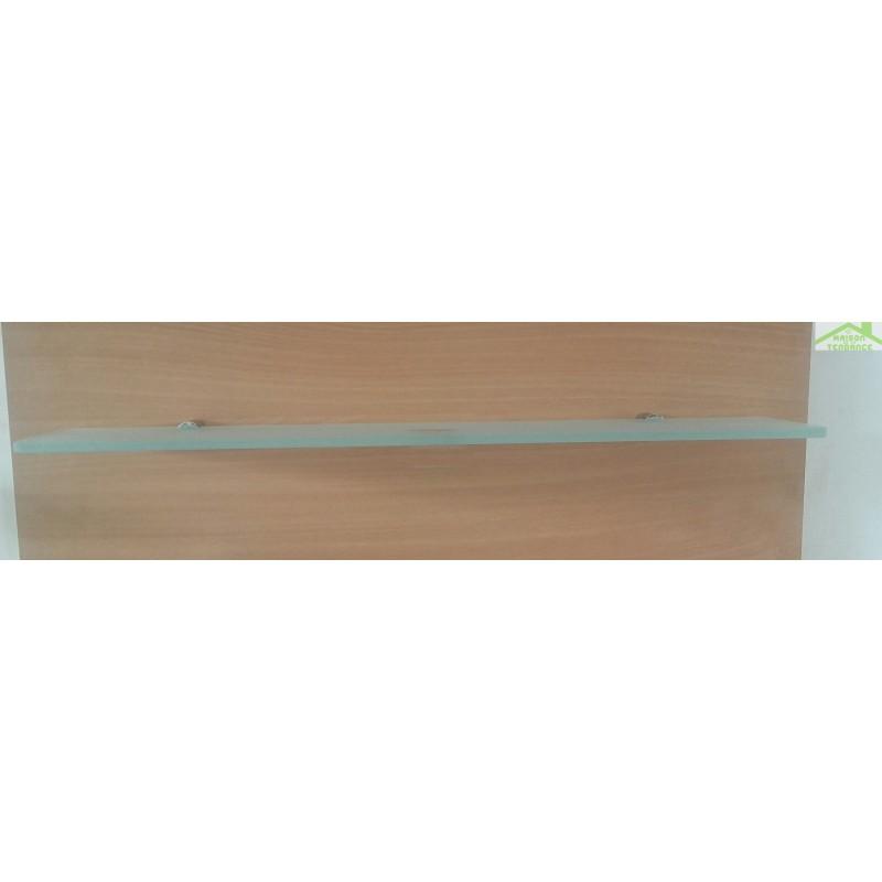 Tablette de salle de bain en verre opaque 20 sur 60 cm - Tablette salle de bain ikea ...