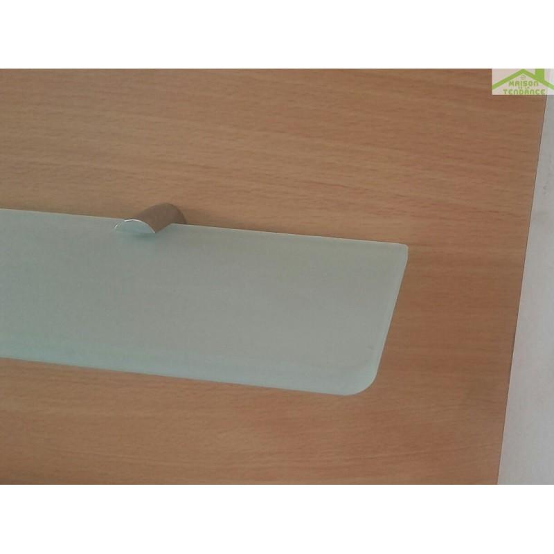 Tablette De Salle De Bain En Verre Opaque 20 Sur 60 Cm – Chaios.com