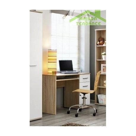 Bureau pour chambre enfant 104x76x50 cm en chêne sonoma et fronts ...