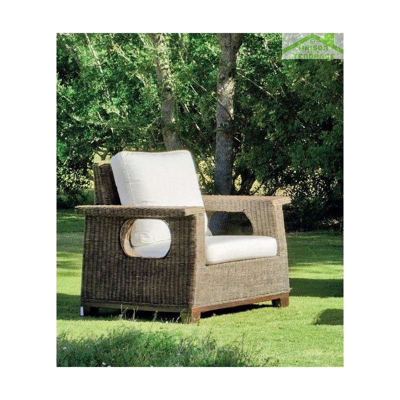salon de jardin complet en rotin naturel lacarno hevea 5 places. Black Bedroom Furniture Sets. Home Design Ideas