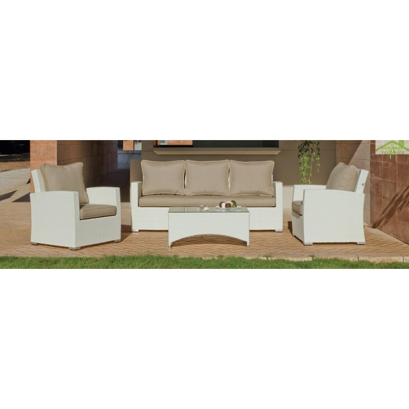 Salon de jardin avec table basse canape 3 places 2 for Tapis de gym avec canape vega