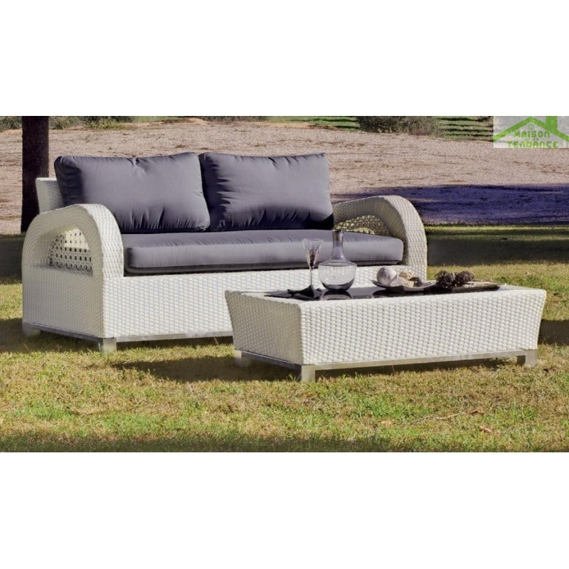 salon de jardin avec table basse canap 2 places 2. Black Bedroom Furniture Sets. Home Design Ideas