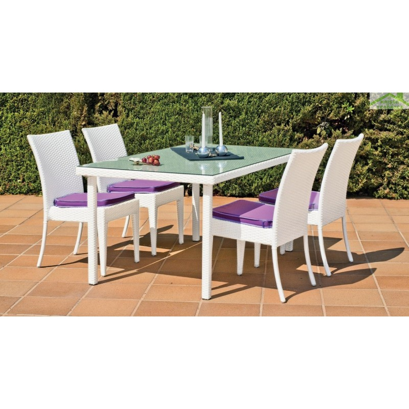 Table manger de jardin 150x90 cm astorga hevea for Hevea jardin