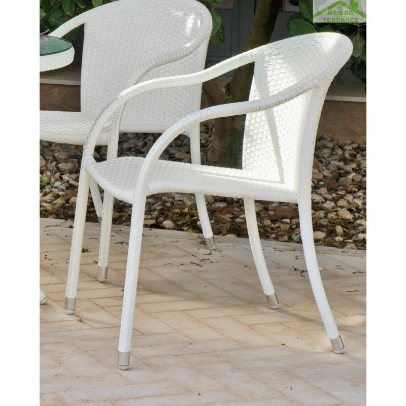 Ensemble de table de jardin 90x90 cm 4 fauteuils for Ensemble fauteuil jardin