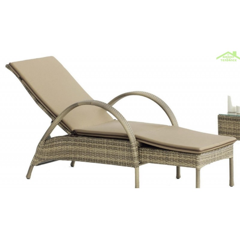 chaise longue de jardin good chaise longue design noire. Black Bedroom Furniture Sets. Home Design Ideas