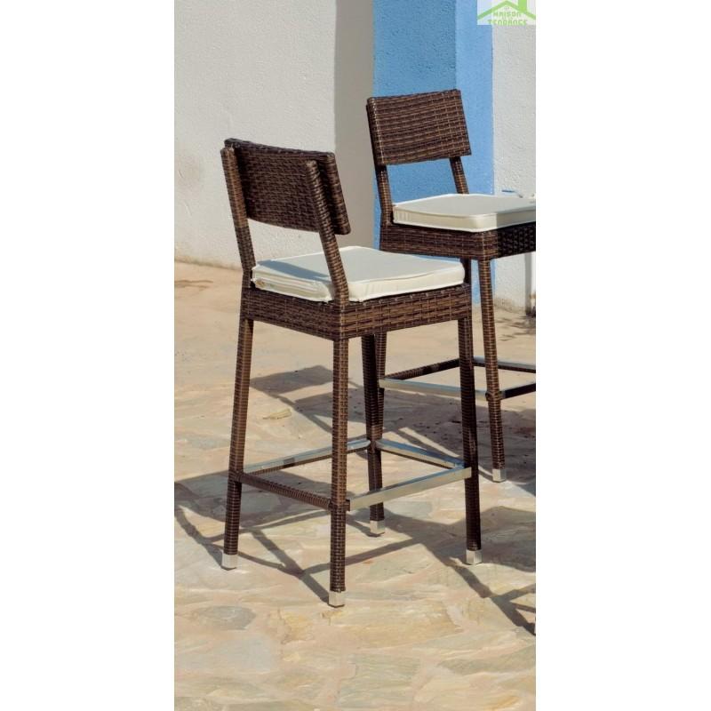 bar de jardin avec table de bar 140x50 cm 3 tabourets de. Black Bedroom Furniture Sets. Home Design Ideas