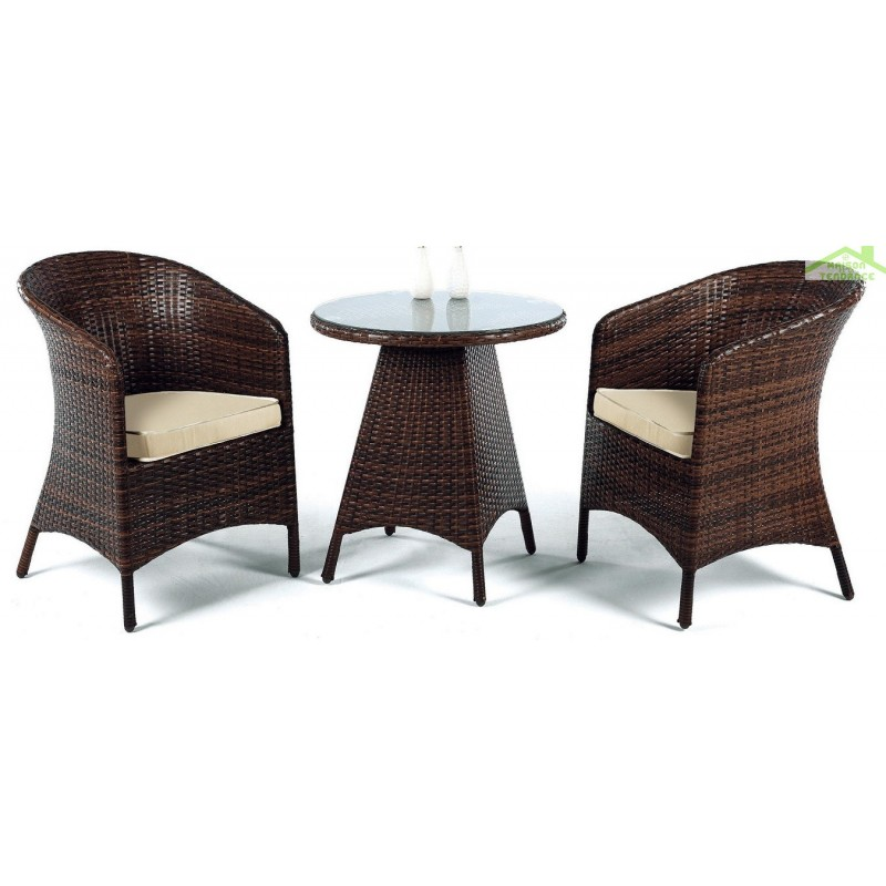 salon de jardin ronde avec table basse 65 cm 2 fauteuils avec coussins flandes hevea. Black Bedroom Furniture Sets. Home Design Ideas