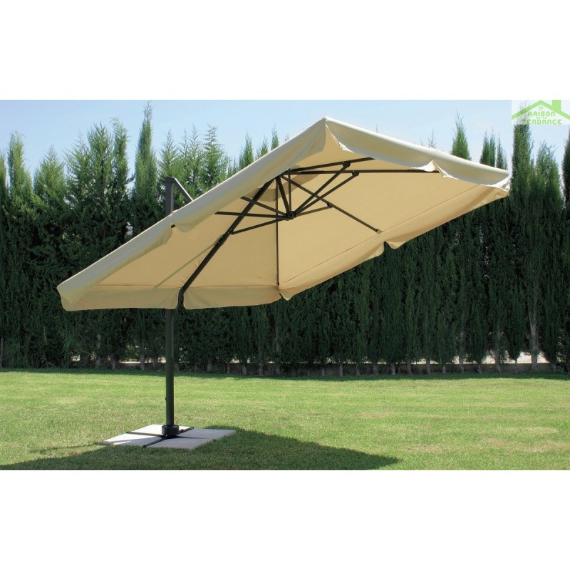 parasol d port carr 3 5 m arosa hevea en toile beige. Black Bedroom Furniture Sets. Home Design Ideas